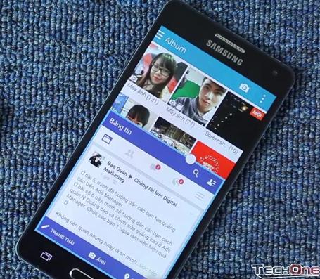 Sử dụng chế độ chia đôi màn hình trên Galaxy A5
