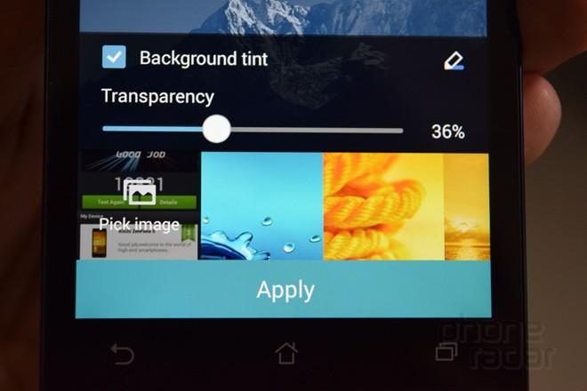 Giao diện điều chỉnh độ sáng tối của màn hình