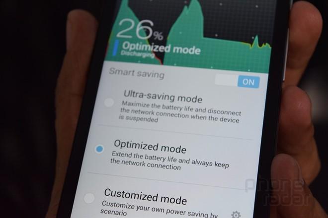 Giao diện hiển thị 3 chế độ tiết kiệm pin cho Asus Zenfone 2