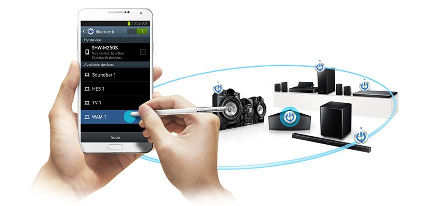 Hình ảnh kết nối với các loa khác của Samsung Galaxy A7